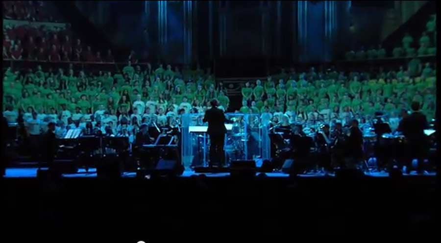 AC Academy sing at the Royal Albert Hall