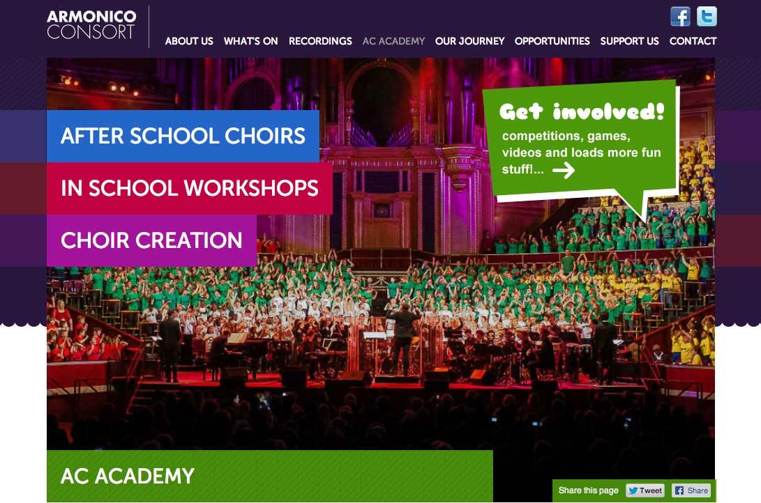 Armonico Consort AC Academy Website