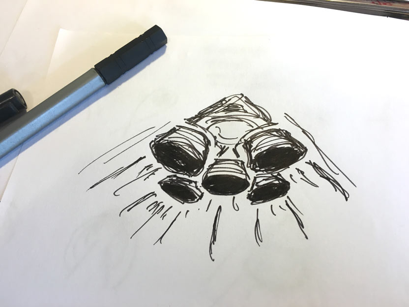 Rocket-logo-design-sketches