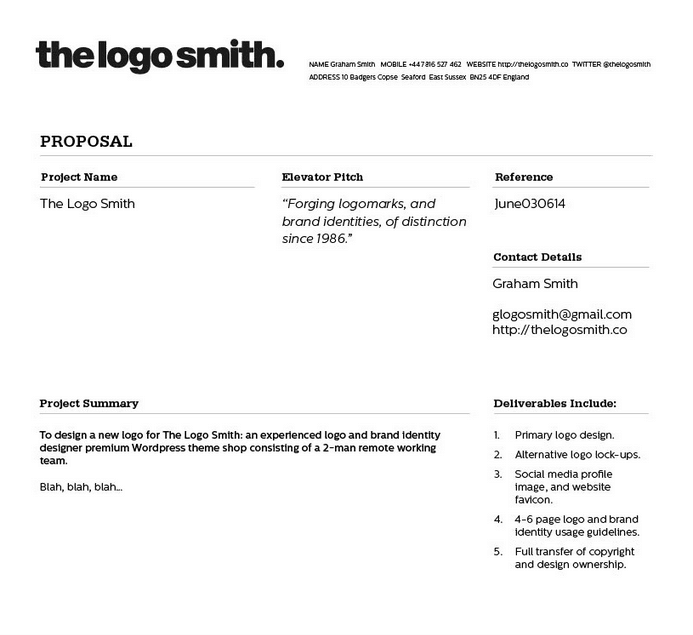 Freelance Logo Design Proposal And Invoice Template For Download - Invoice quote template