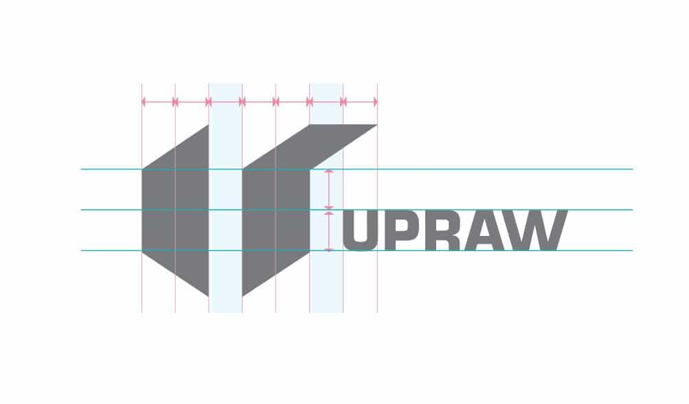 UPRAW Logo Design Grid