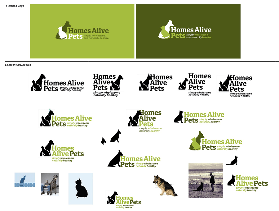 homes-alive-pets-cat-dog-logo-design-ideas