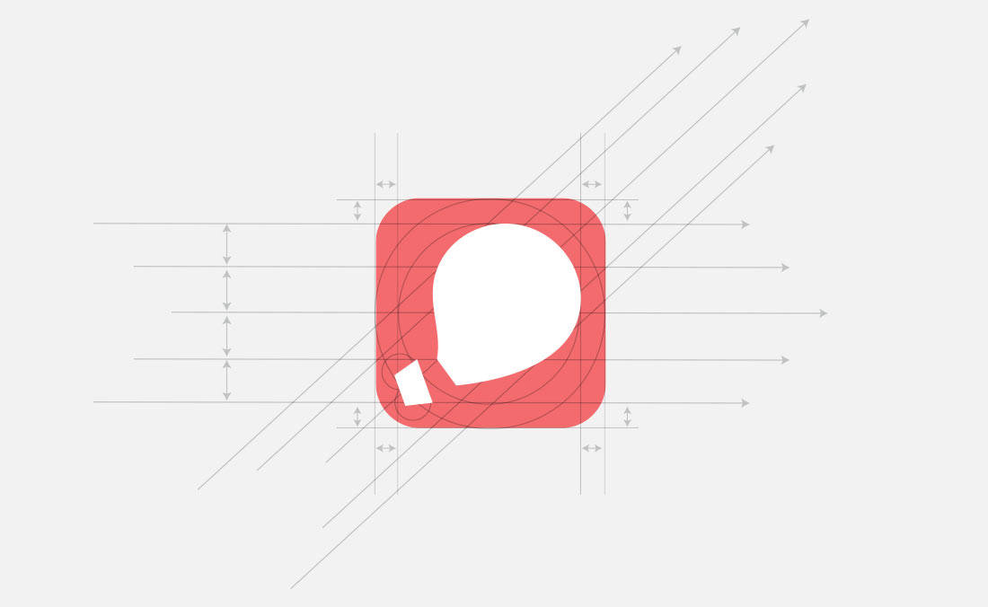 Gogobot Concept Logo Design App Icon with Guides by The Logo Smith