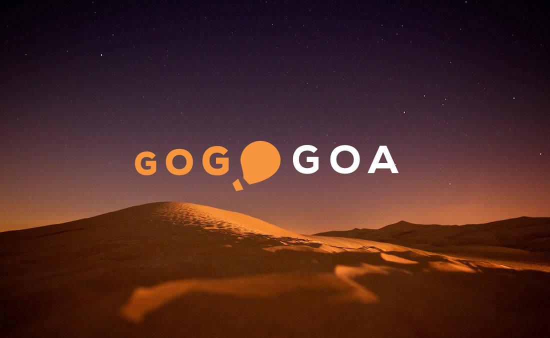 Gogobot  Goa Concept Logo Design by The Logo Smith
