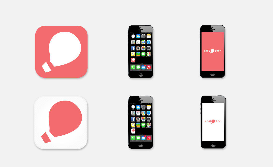Gogobot Concept Logo App Icon iPhone Mock-upDesign by The Logo Smith