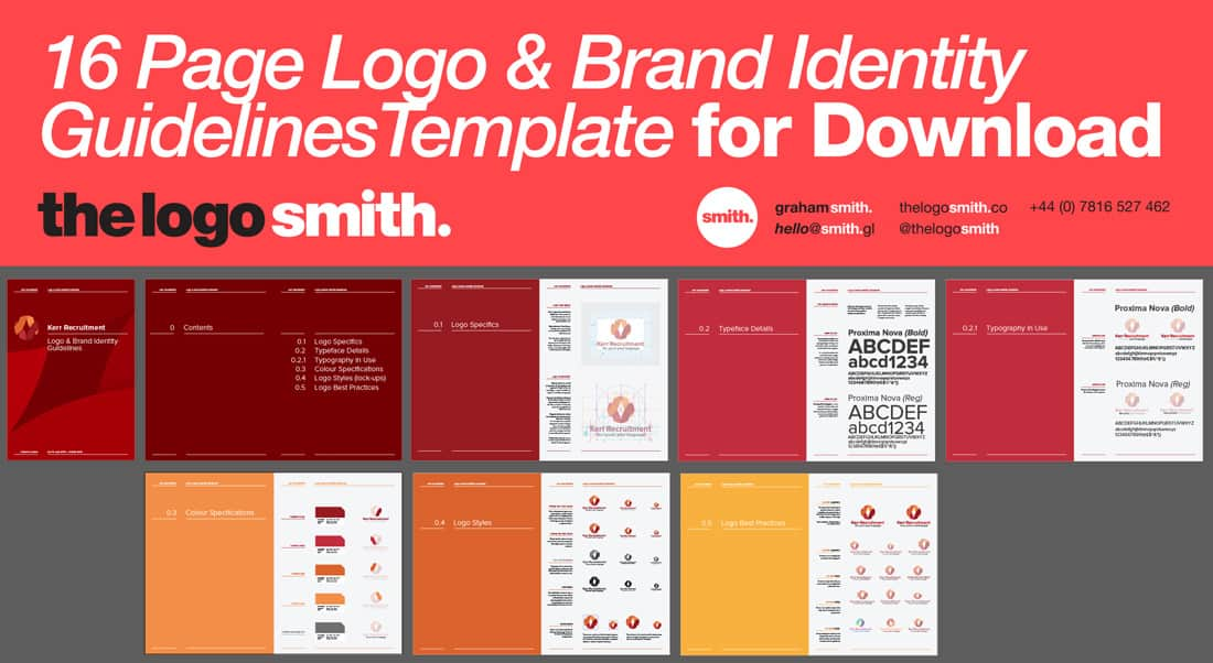 14 16 page logo brand identity guidelines template for download