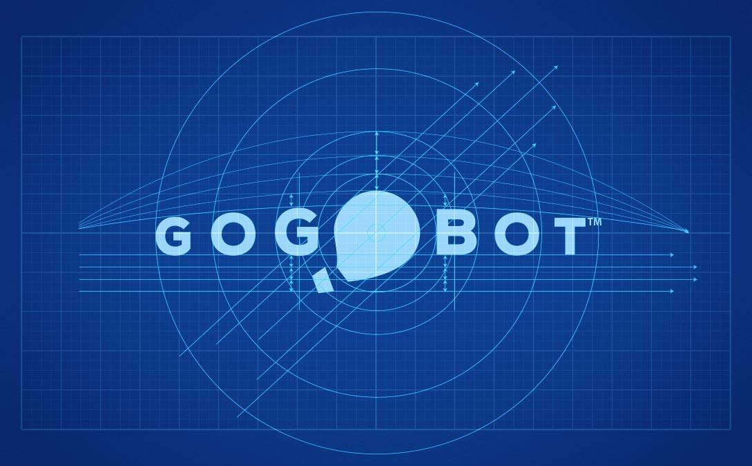 GoGoBot Blueprint Logo Design
