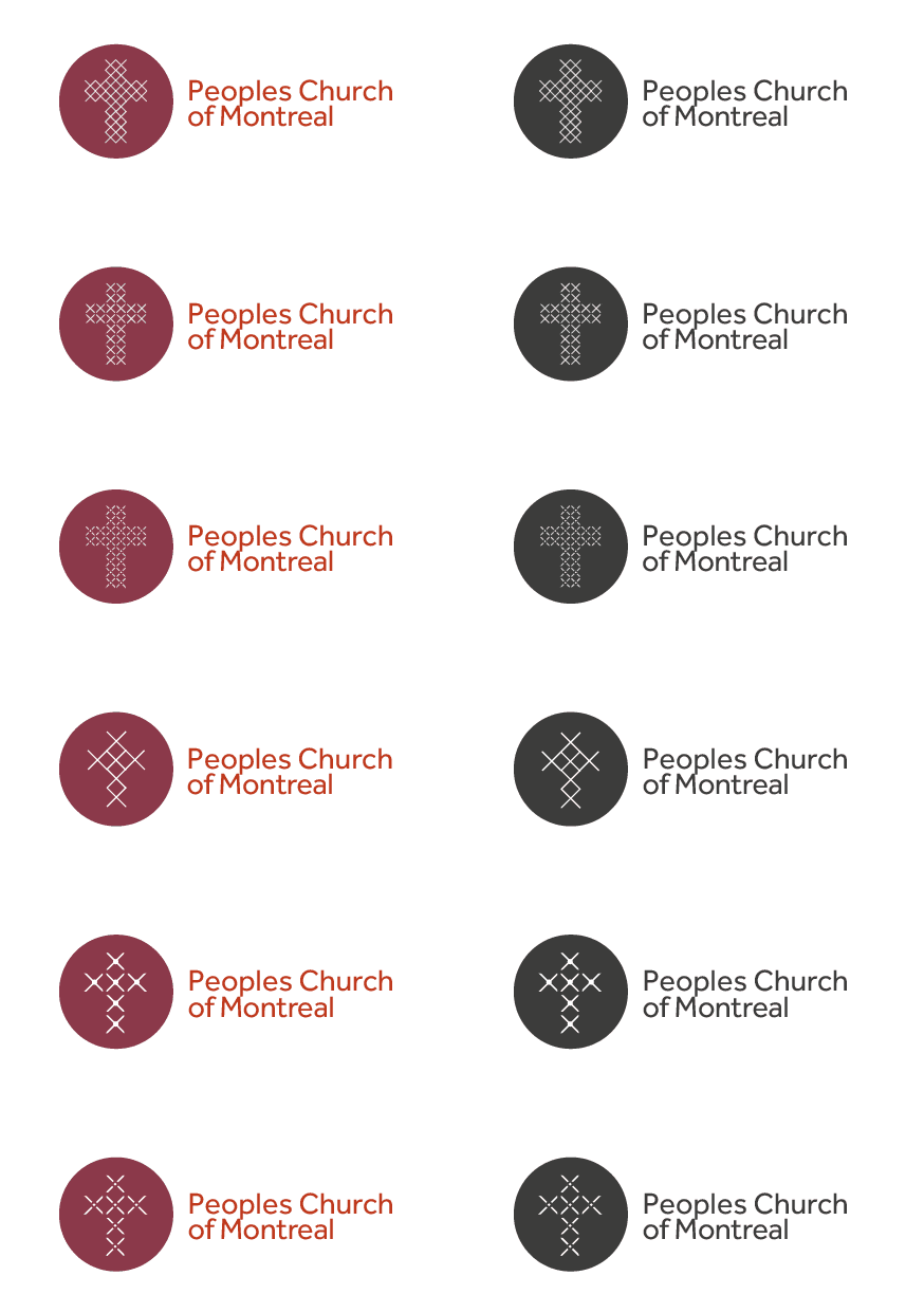 Peoples Church of Montreal - Church Logo Design Concepts