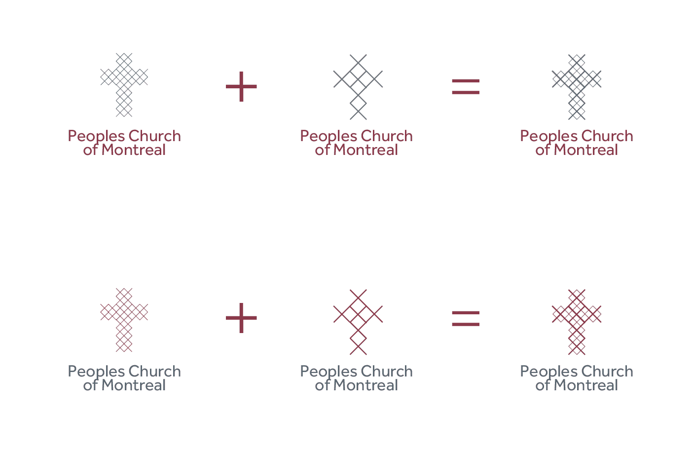 Peoples Church of Montreal - Church Logo Design Idea Hybrid - Designed by The Logo Smith