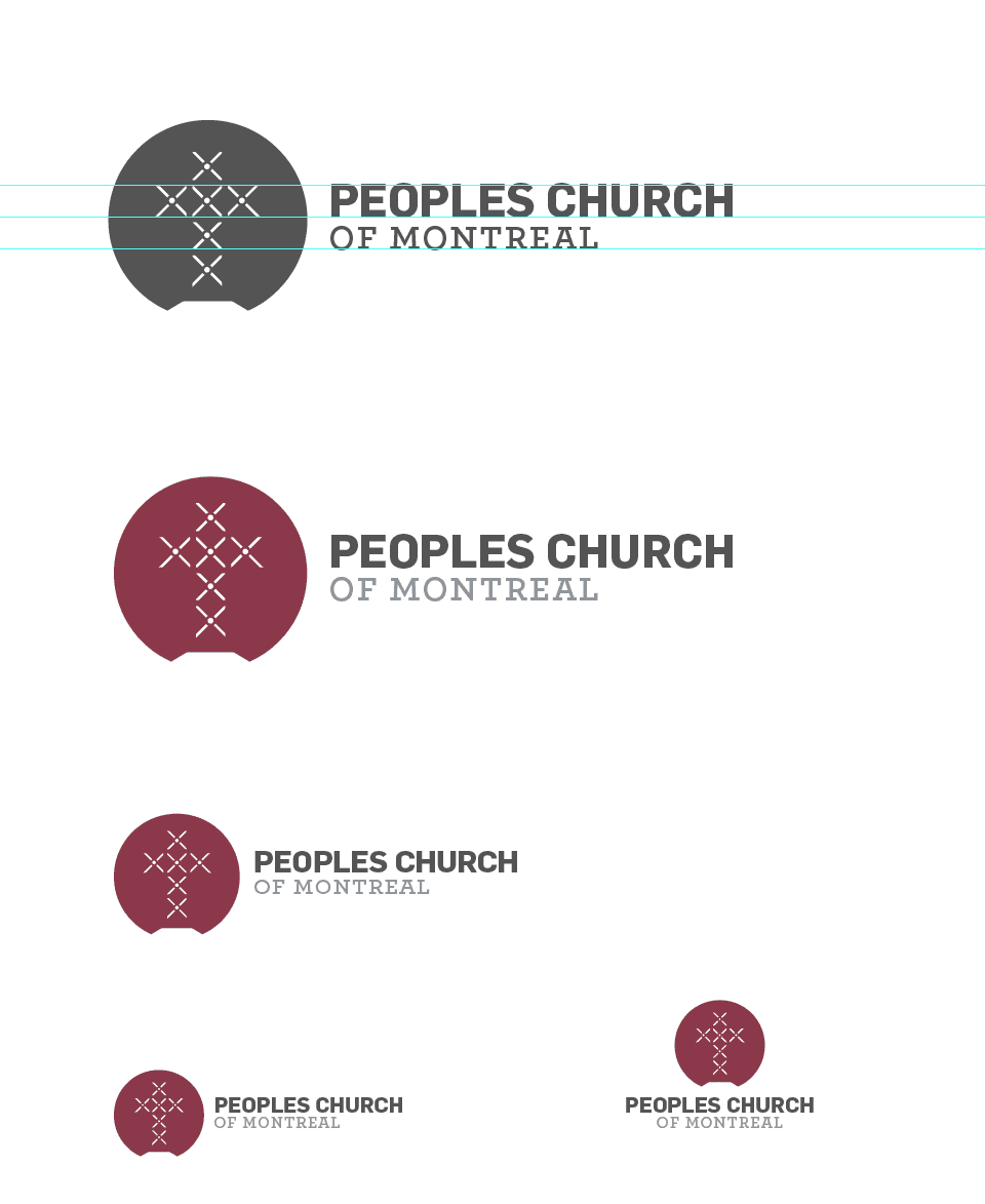 Peoples Church of Montreal - Church Logo Design Idea - Designed by The Logo Smith