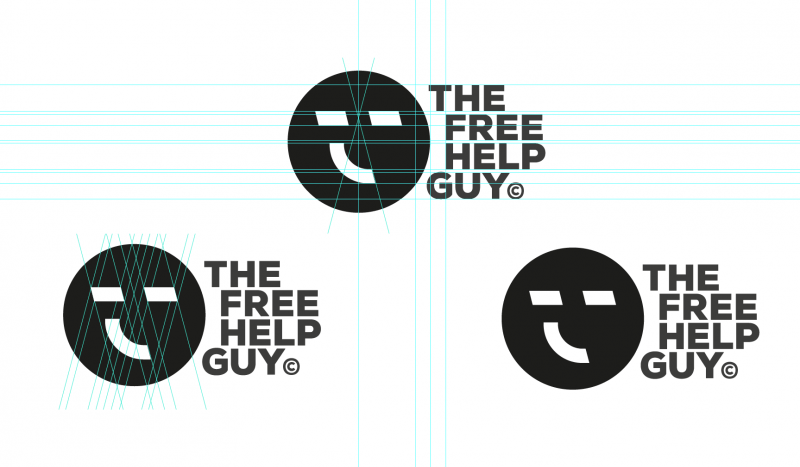The Free Help Guy Logo Designed by The Logo SMith
