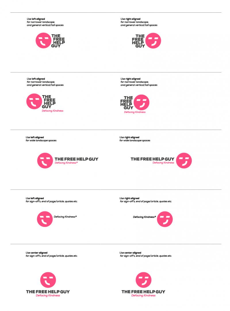 TheFreeHelpGuy Logo Design Logo Sheet - Designed by The Logo Smith