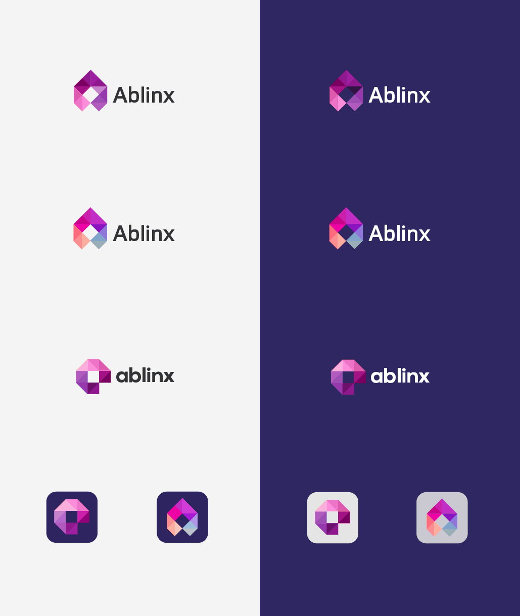 Ablinx Logo Design and iOS App Icon - Designed by The Logo Smith