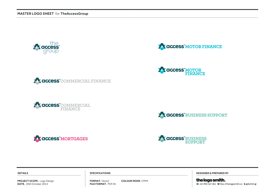 Logo Sheet for The Access Group Logo Design