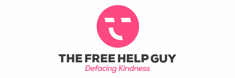 The Free Help Guy London's Anonymous Free Helper Logo Designed by The Logo Smith