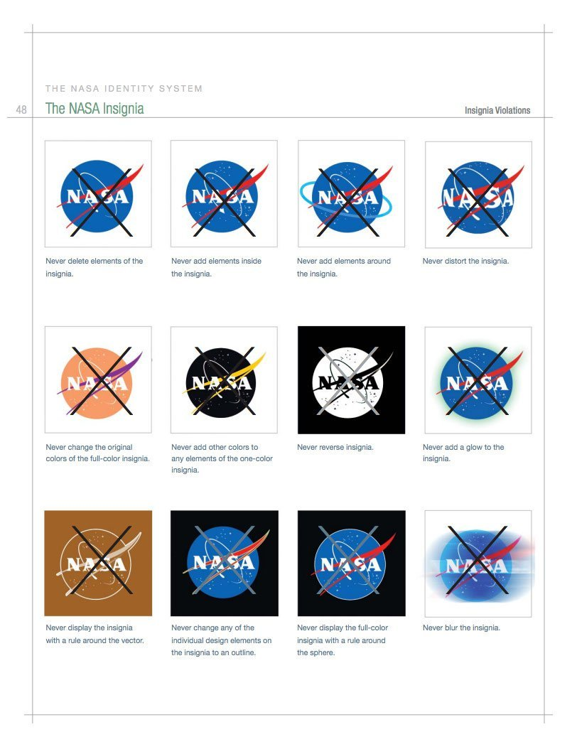 Nasa Style Guide Logo And Brand Identity Manual
