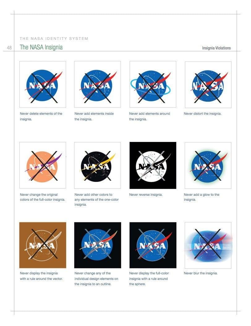 NASA Logo Brand Identity Style Guide Nov06