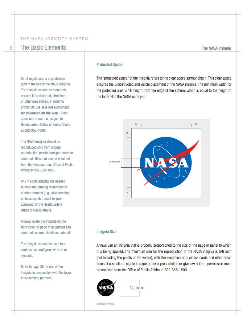 NASA Style Guide and Logo Brand Identity Manual
