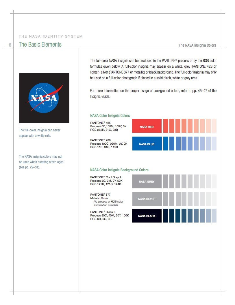 nasa style guide logo and brand identity manual rh imjustcreative com brand identity style guide pdf ikea brand identity style guide