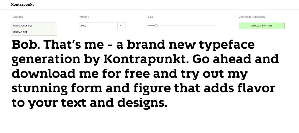 Kontrapunkt Free Font