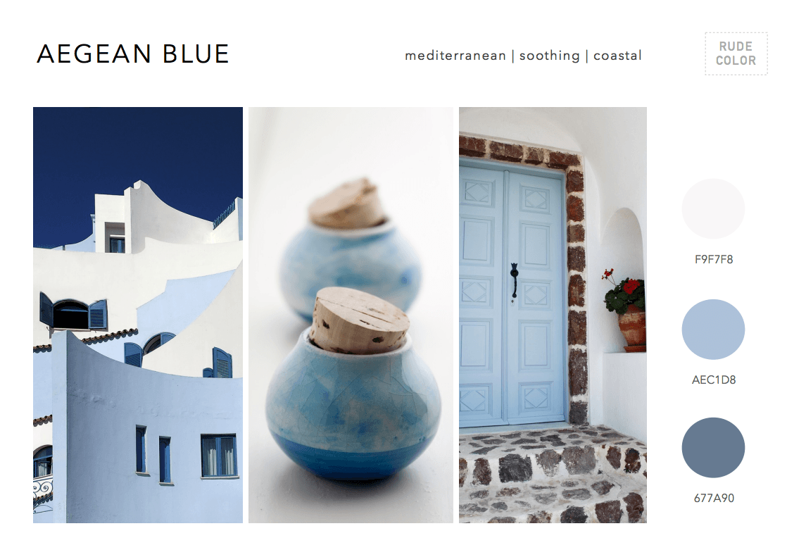 Rudecolor 2015 Color Trends Mood Boards for Designers
