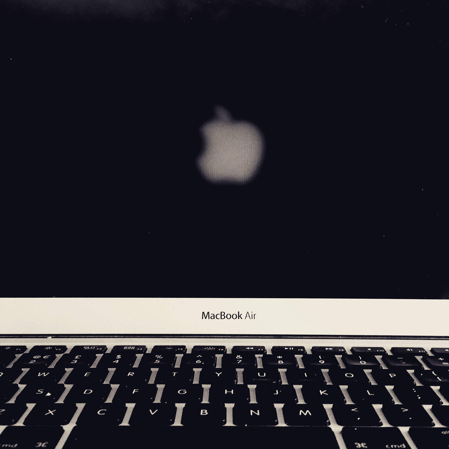 Apple Logo Reversed Macbook Air Screen