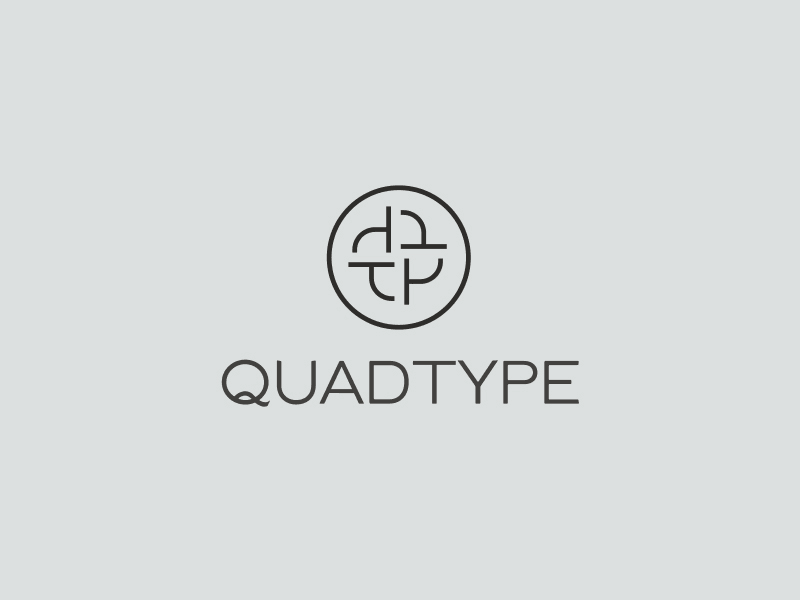 QuadType QT logo design 2 for sale by The Logo Smith