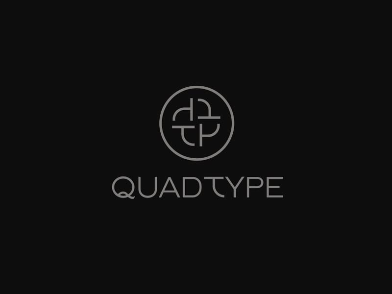 QuadType QT logo design 1 for sale by The Logo Smith