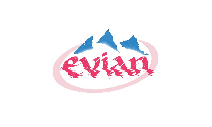 Brand by Hand Evian Logo Design by Sara Marshall