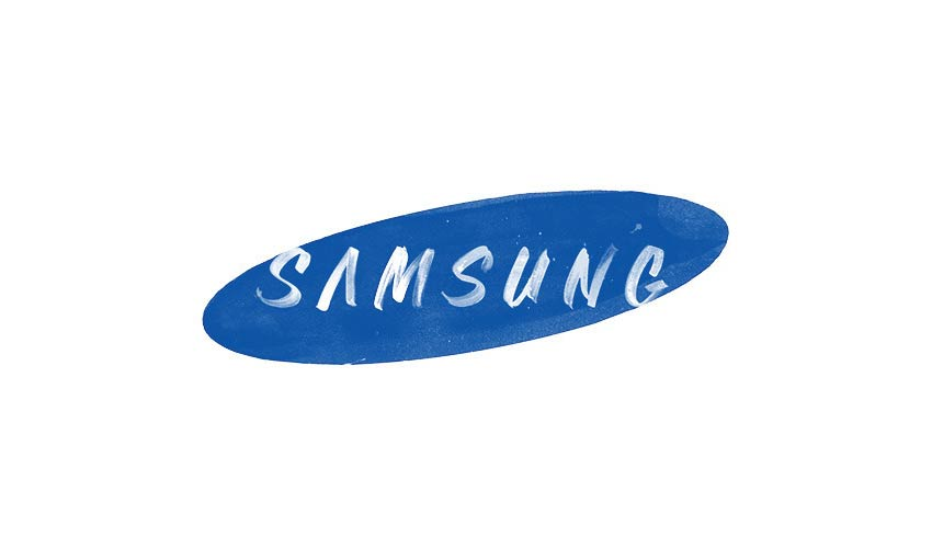 Brand by Hand Samsung Logo Design by Sara Marshall