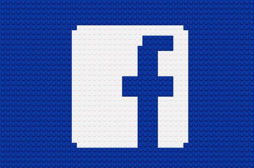 Facebook Logo as Lego brands