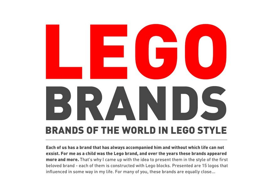 Famous Logos as Lego brands