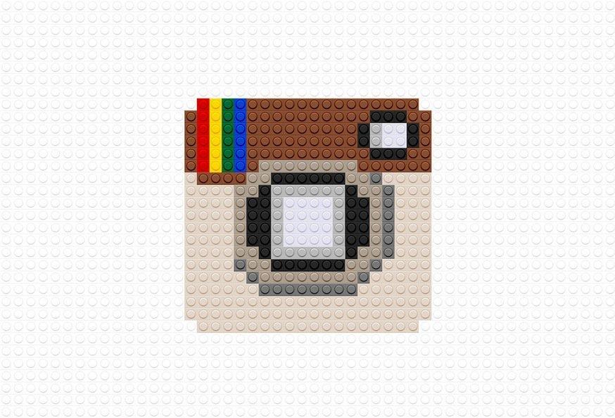 Instagram Logo as Lego brands