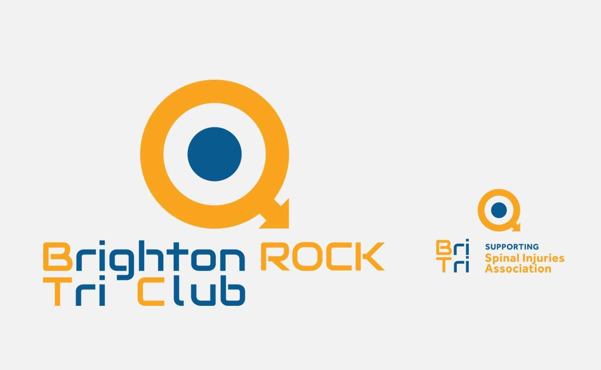 Brighton Rock Tri Club Logo Design Designed by The Logo Smith