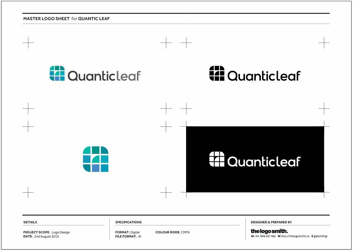 quantic leaf master logo sheet