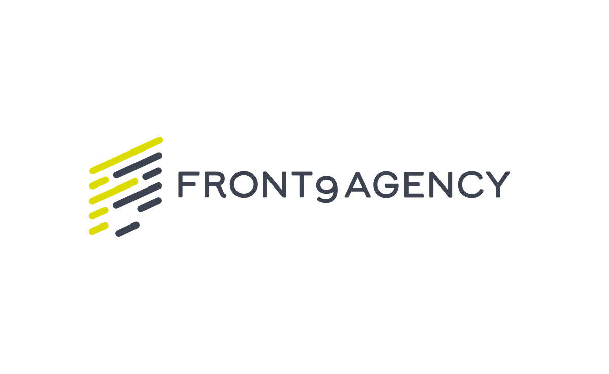 Front9Agency Logo Design Designed by The Logo Smith