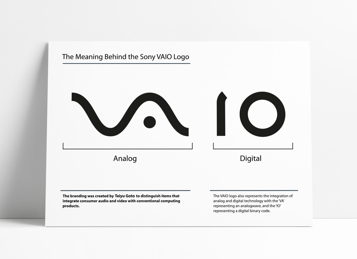 The Sony Vaio Logo - The Meaning Behind Sony's Laptop Logo designed by Teiyu Goto