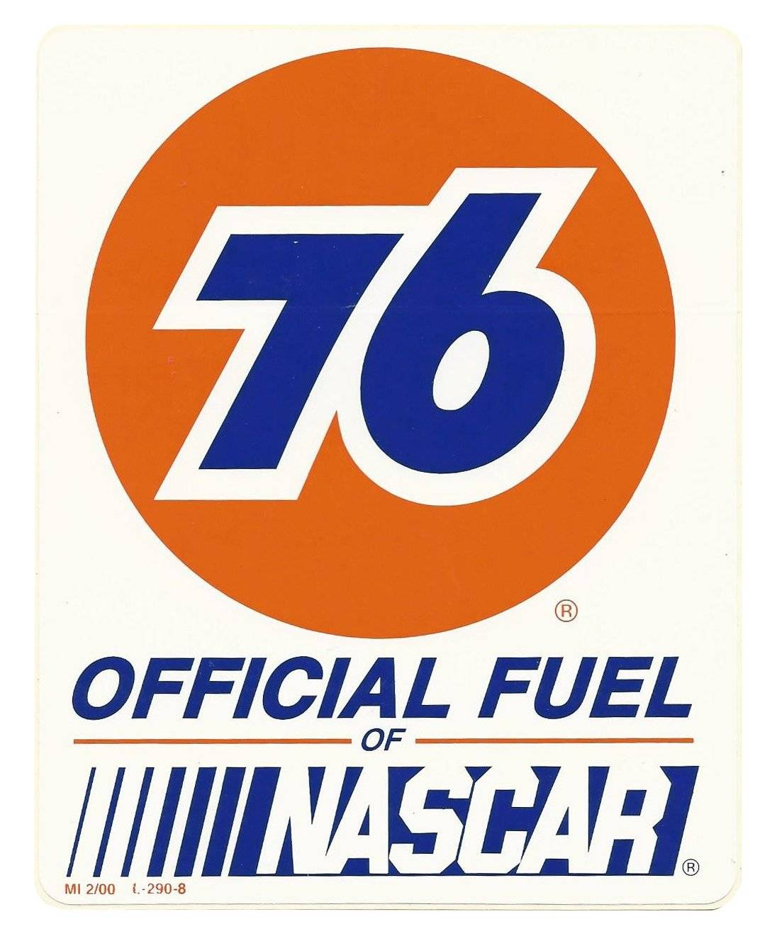 76 nascar vintage race logo decal sticker