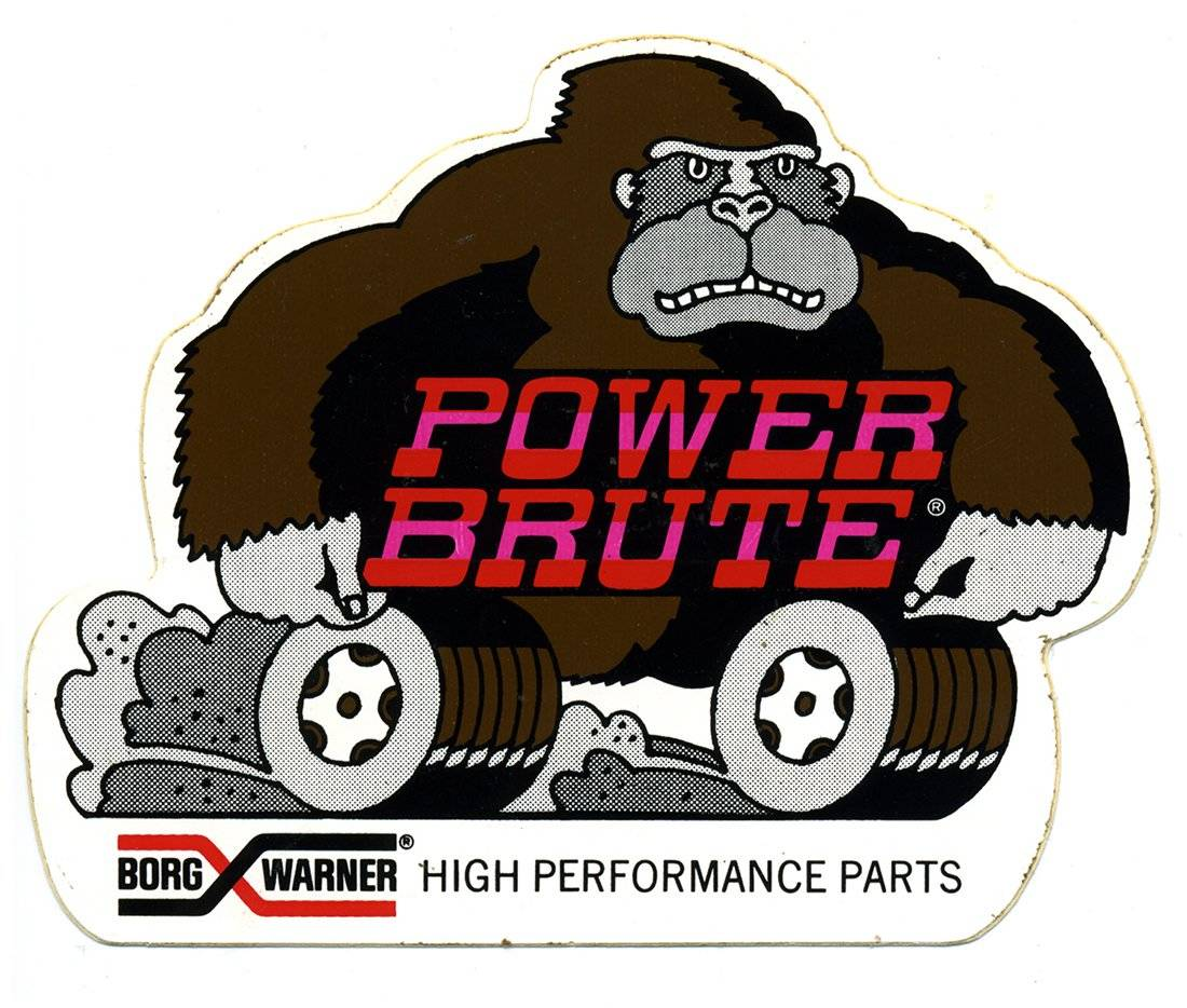 Borg Warner Power Brute Vintage Logo Decal