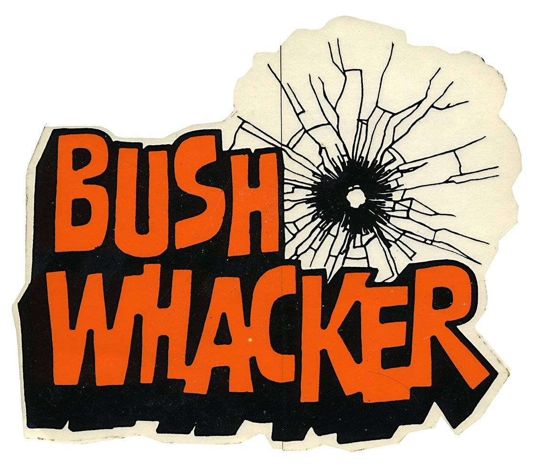 Bush Whacker Vintage Racing Decal