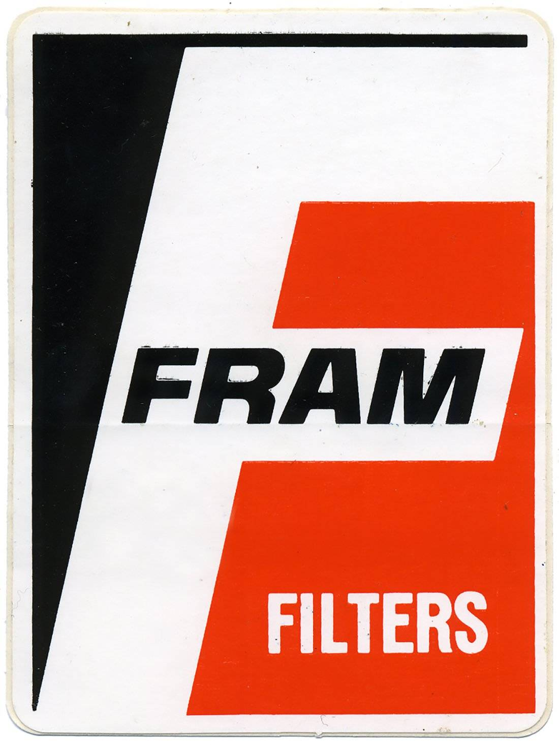 Frame Filters Vintage Racing Logo Decal