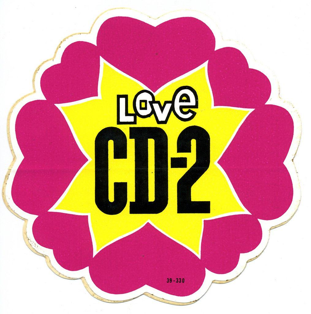 Love CD-2 Vintage Racing Decal