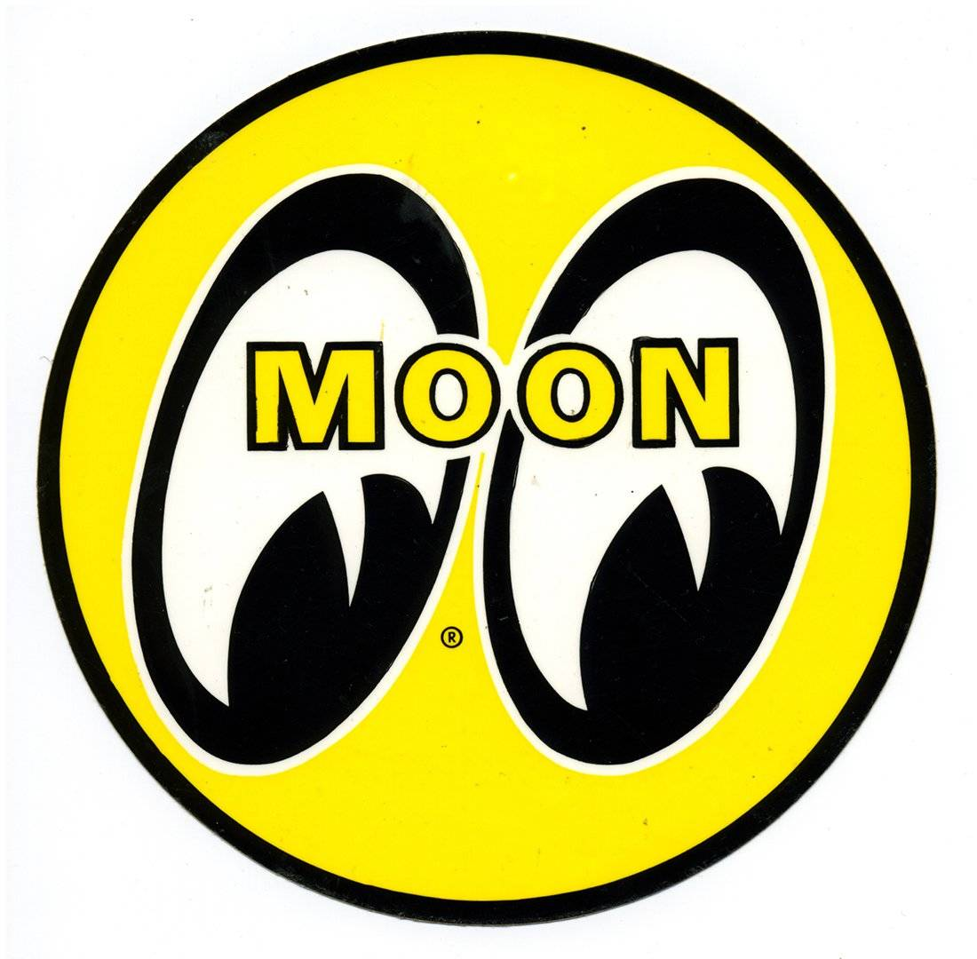 Moon Vintage Racing Decal