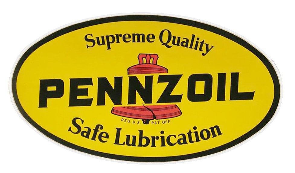 Pennzoil vintage race logo decal sticker