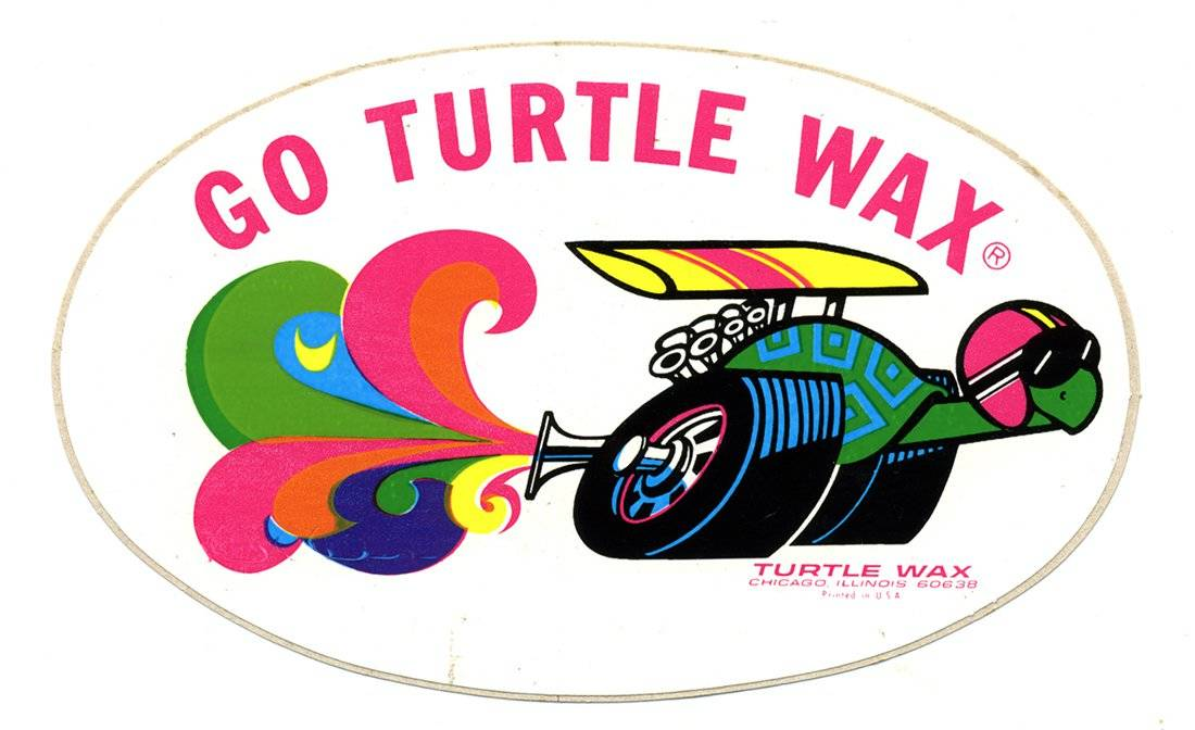 Turtle Wax Vintage Racing Logo Decal
