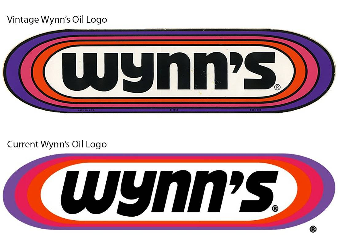 vintage racing logo decals from the 1970s