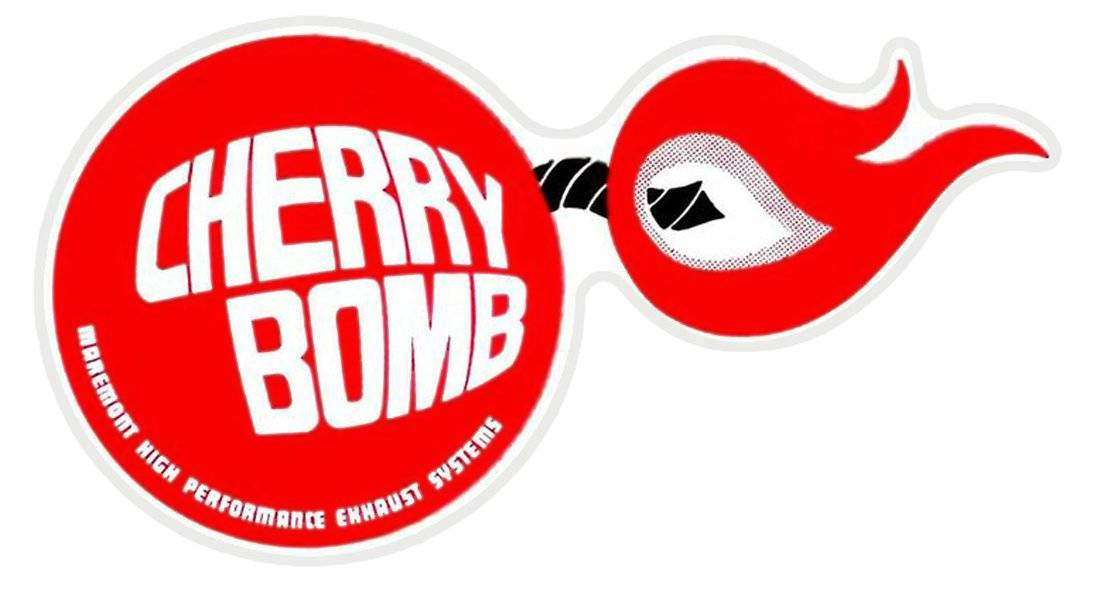 cherry bomb vintage race logo decal sticker