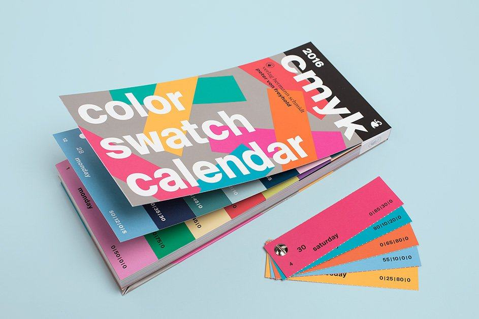 color cmykswatch calendar 2016 Designed by Peter von Freyhold