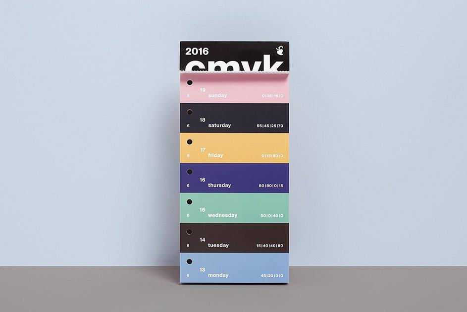 color swatch cmyk calendar 2016 Designed by Peter von Freyhold