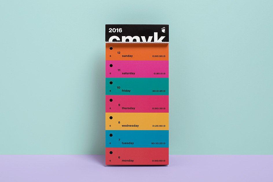 cmyk color swatch calendar 2016 Designed by Peter von Freyhold